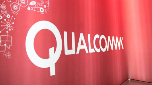 The Qualcomm booth at the 2014 International CES.