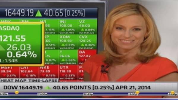 Markets finish higher to start big earnings week