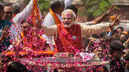 Bharatiya Janata Party (BJP) leader Narendra Modi.