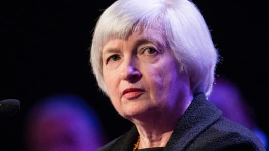 Janet Yellen, chair of the Federal Reserve, speaks at The Economic Club of New York on April 16, 2014.