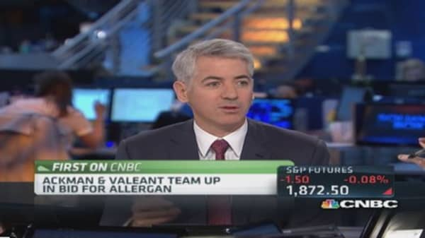 Ackman: Valeant fit into Pershing investing mold