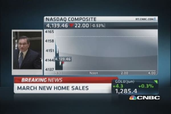 March new home sales drop 14.5%