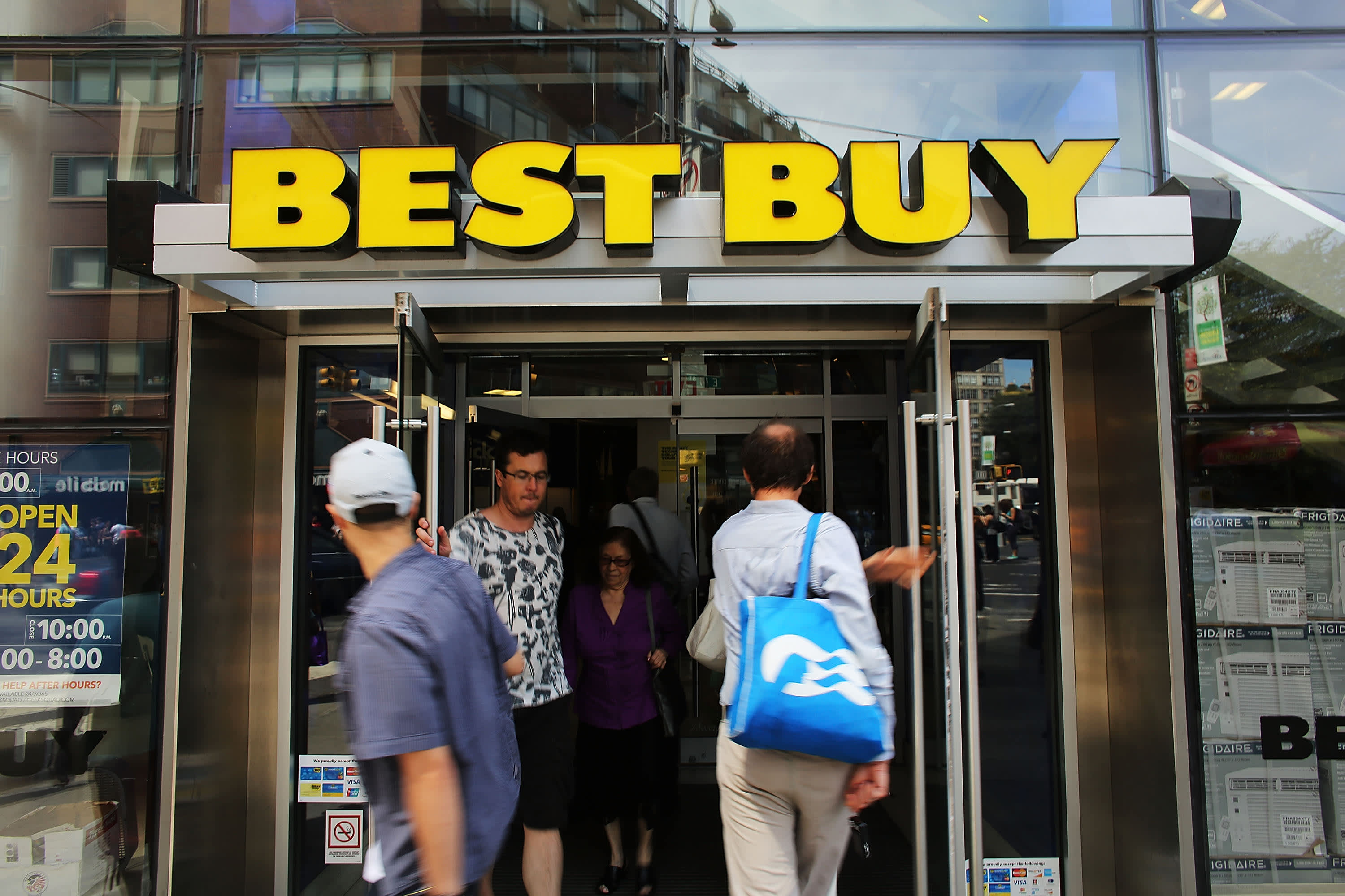 Best Buy Says Same Store Sales Results Not New Normal Stock Falls