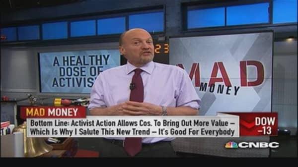 Shareholder activism is your friend: Cramer