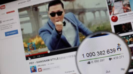 Psy's 'Gangnam Style' became the first video to hit a billion views on YouTube