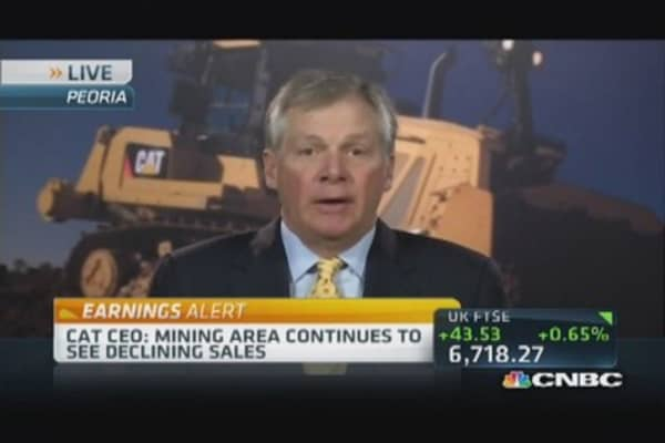 CAT CEO: Global outlook a mixed bag