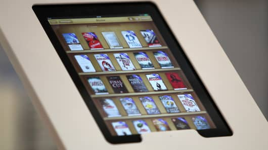E-Books are seen on an ipad.
