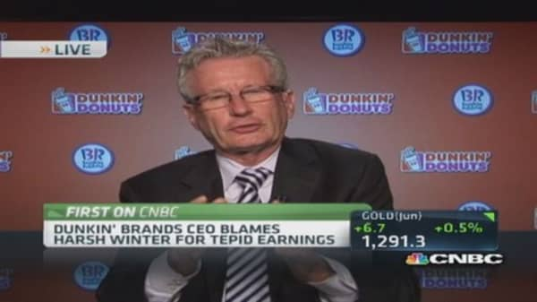 Winter disrupted ritualistic factor: Dunkin' CEO