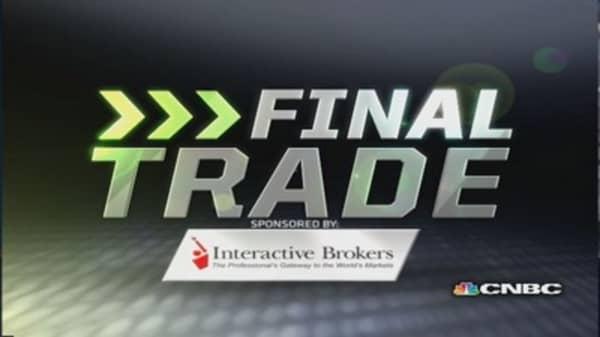Fast Money Final Trade: AMZN, CHK, EWG, QCOM