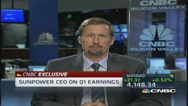 SunPower CEO: Extremely good Q1