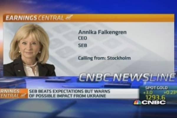 Baltics to be hit by Ukraine crisis: SEB CEO