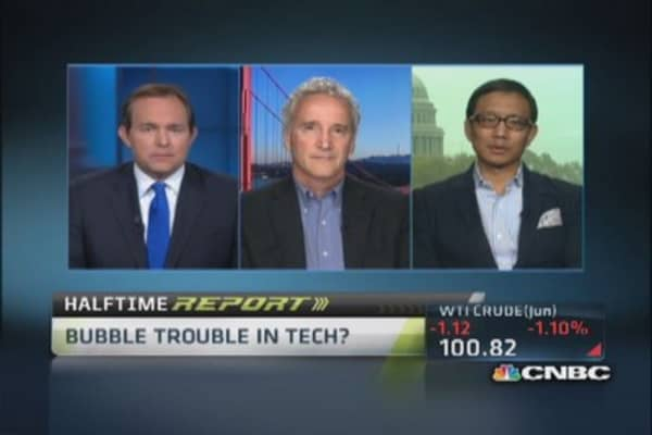 Bubble trouble in tech?