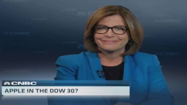 Apple headed to the Dow 30?