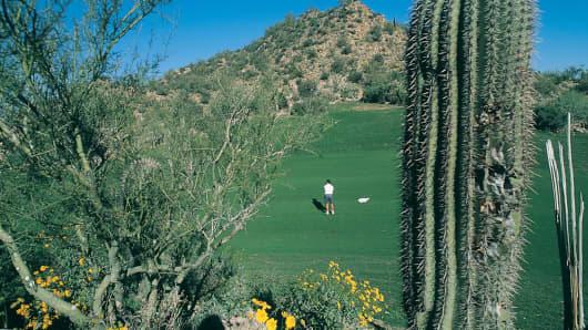 Desert golfing in Tucson, Ariz.