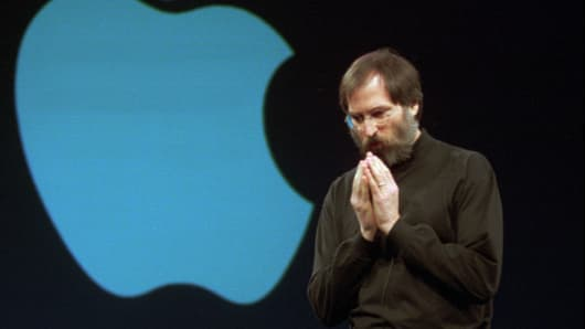 In 1997 Steve Jobs, Apple's acting chief executive, announced that the company--buoyed by cost-cutting and strong demand for its new computers--surprised Wall Street by once again showing profitability.