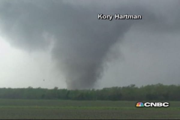 Tornadoes rip across South
