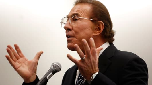 Steve Wynn, speaking in Boston, Jan. 22, 2014.