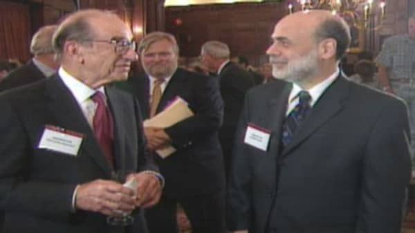 Bernanke & Greenspan work 25 years of boom and bust
