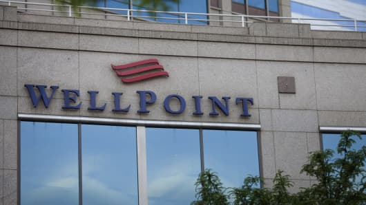 WellPoint Inc. headquarters stand in Indianapolis, Indiana.