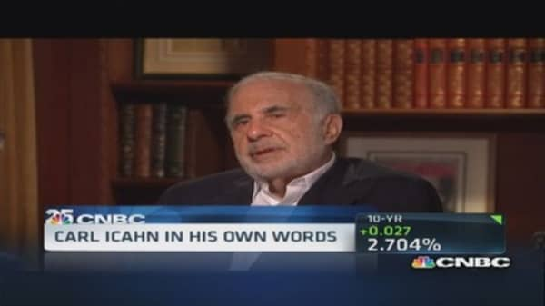 Carl Icahn says he's 'maybe too obsessed'