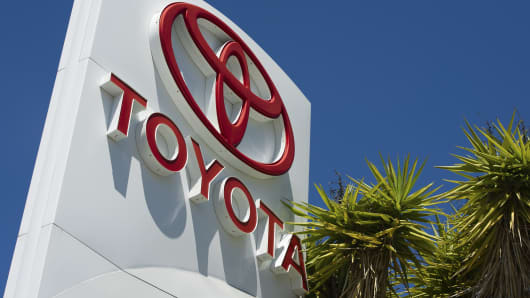 Toyota Motor Corp dealership in Richmond, California.