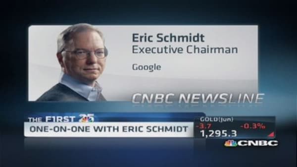 Google's Schmidt says mobile ads 'doing better'
