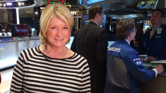 Martha Stewart at the NYSE.