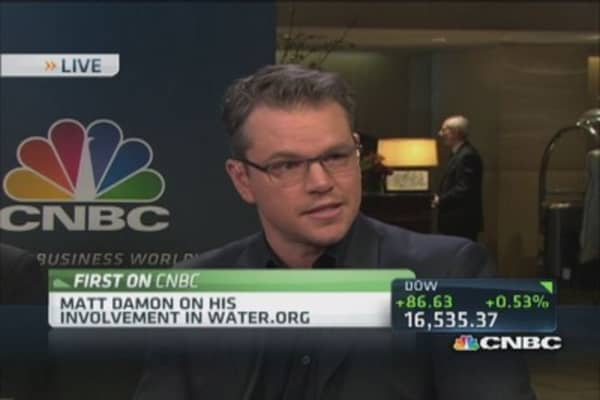 Matt Damon: Confident in Water.org's success
