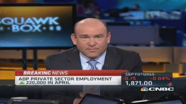 ADP: Private sector employment up 220,000 in April