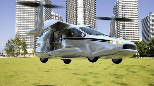 Artist's rending of Terrafugia's TF-X flying car.