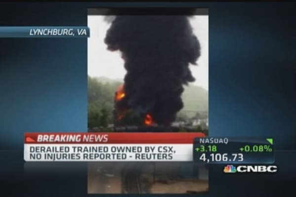 CSX train derails in Virginia: Reuters