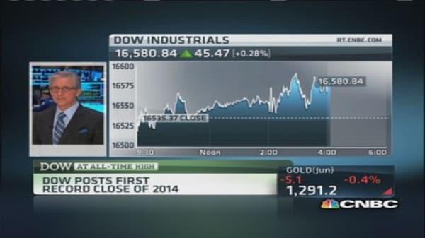 Record high on Dow: Pisani