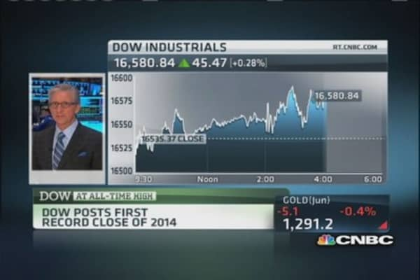 Record high on Dow: Pisani