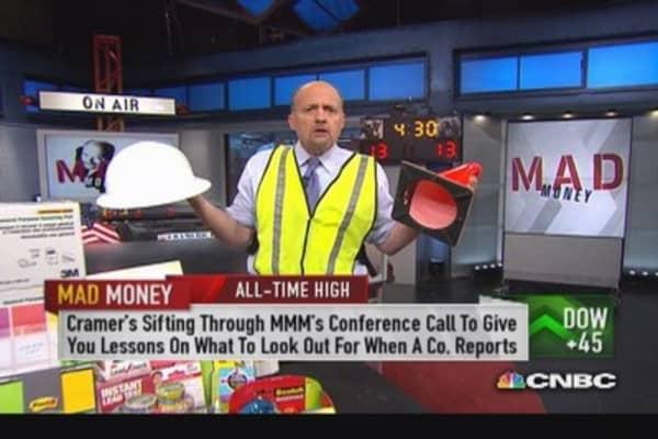 Cramer analyzes 3M's call