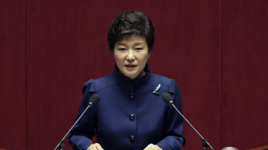 South Korean President Park Geun-Hye.