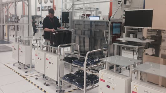 A lab at GlobalFoundries' Malta plant