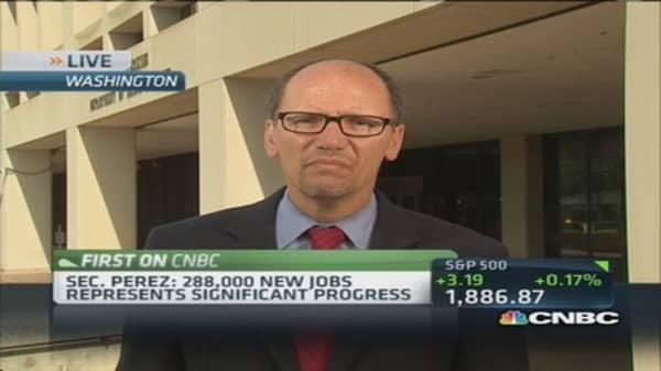 Jobs report shows significant progress: Perez