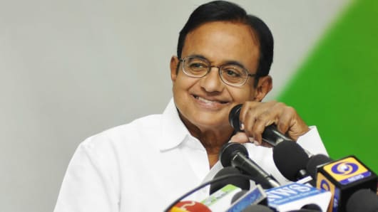 India's Finance Minister P. Chidambaram.