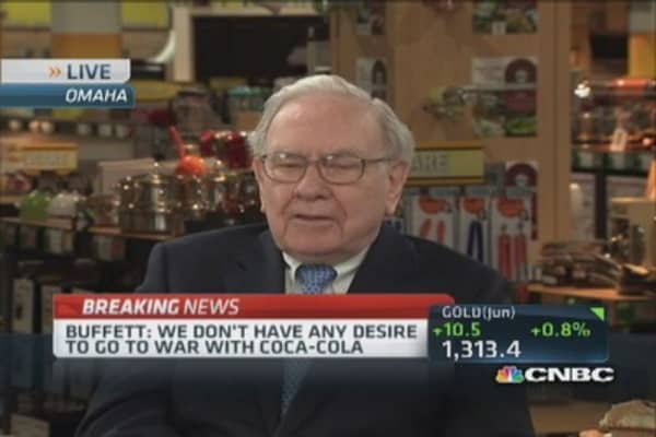 I don't want to embarrass Coca-Cola: Buffett