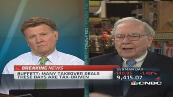We are not unduly burdened by taxes: Buffett