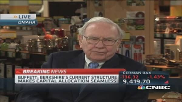 Capital allocation easier under current structure: Buffett