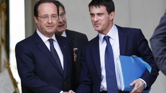 Francois Hollande and Manuel Valls