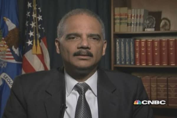 No such thing as 'too big to jail' :AG Holder