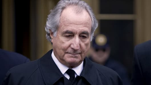 Bernard Madoff, founder of Bernard L. Madoff Investment Securities, leaves federal court in New York on Tuesday, March 10, 2009.