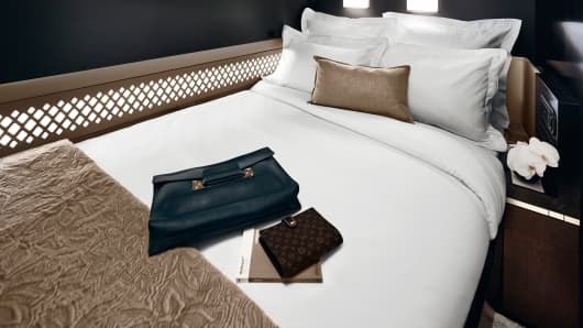 Bedroom on Etihad plane