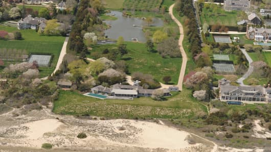 This 18-acre beachfront property in East Hampton reportedly sold for $147 million, breaking a record set two weeks ago for the most expensive residential property sold in the U.S.