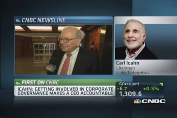 Icahn: Can't look at companies as fraternity