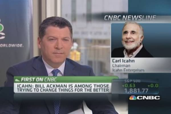 Icahn: Ackman trying to change things for better