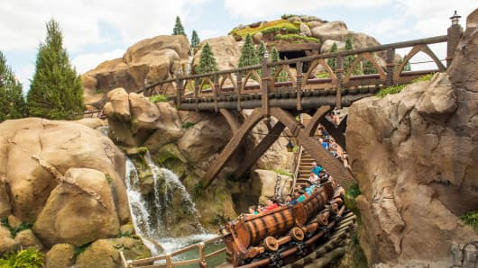 'Seven Dwarfs' coaster at Magic Kingdom