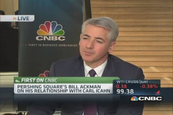 Ackman: Makes sense to be partners with Icahn instead of enemies